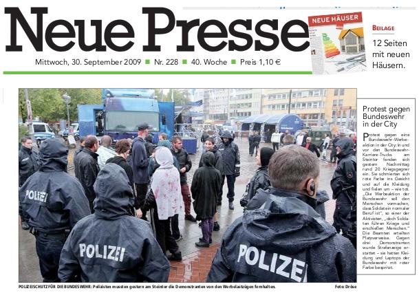 Neue Presse Titelseite